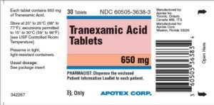 Tranexamic Acid 650mg